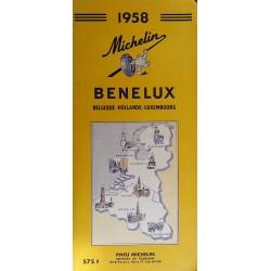 Guide de tourisme Michelin : Benelux - 1958