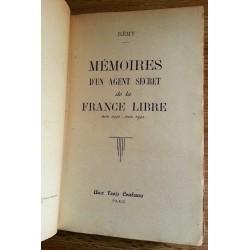Rémy - Mémoires d'un agent secret de la France libre (Juin 1940-Juin 1942)