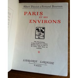 Albert Dauzat & Fernand Bournon - Paris et ses environs