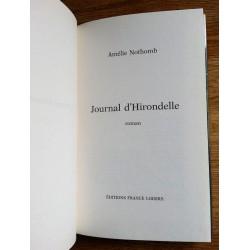 Amélie Nothomb - Journal d'Hirondelle