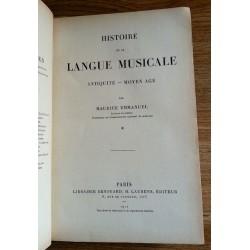 Maurice Emmanuel - Histoire de la langue musicale, Tomes 1 & 2