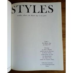 Styles - Meubles - Décors du Moyen Age au Louis XV, Tome 1