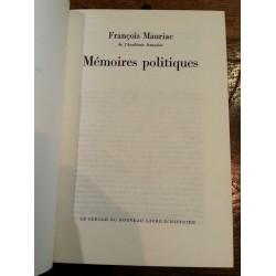 François Mauriac - Mémoires politiques