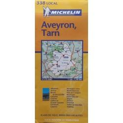 Carte routière Michelin (local) : n° 338 Aveyron, Tarn