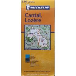 Carte routière Michelin (local) : n° 330 Cantal - Lozère - 2002